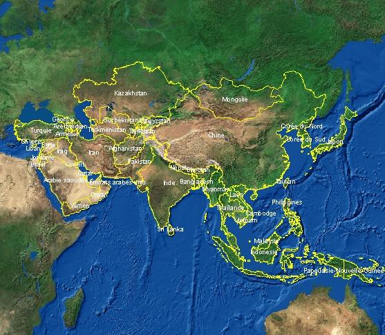Carte Geo De Lasie.Cartes De L Asie