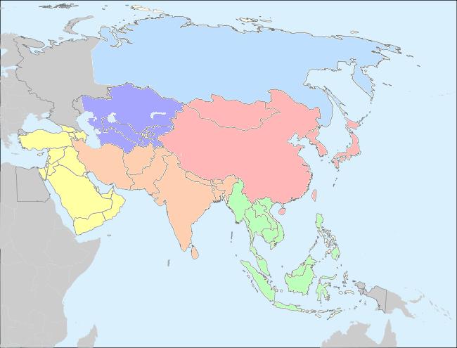cartes politiques de l u0026 39 asie