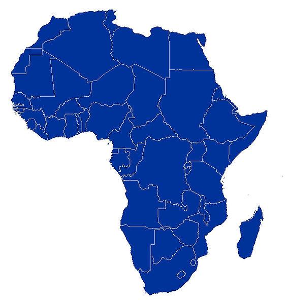Carte De Lafrique Vierge A Imprimer.Cartes De L Afrique