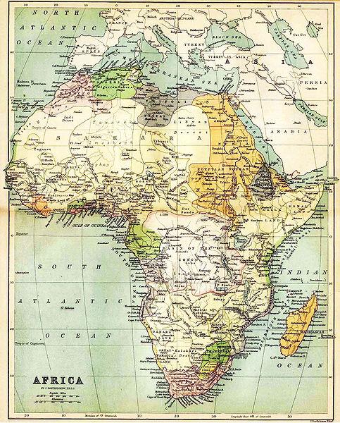 Carte Afrique Jaune Grise Verte.Cartes De L Afrique