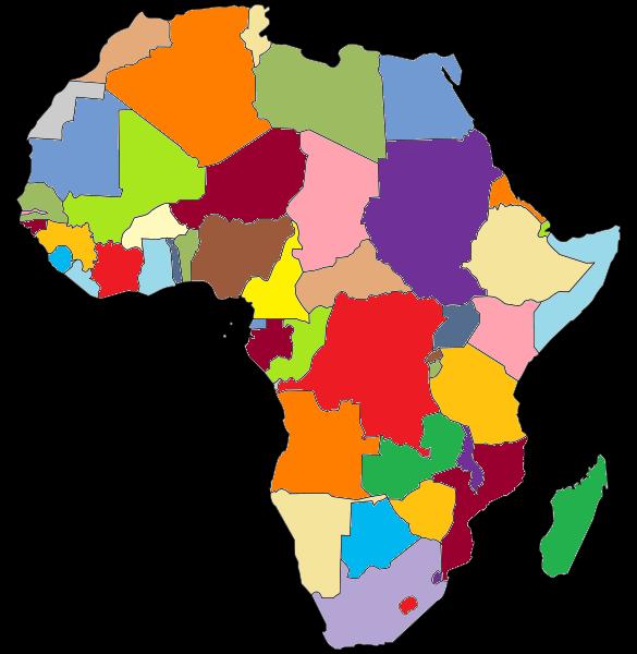 Carte Afrique Sans Pays.Cartes De L Afrique