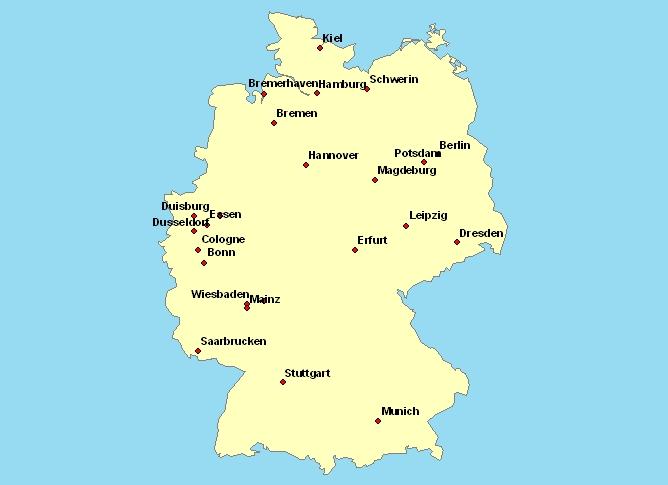 Carte Allemagne Avec Les Villes.Cartes Et Cliparts