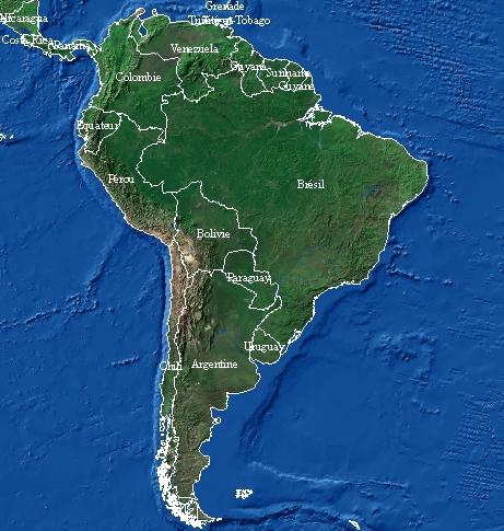 Carte Damerique Du Sud Avec Les Pays.Cartes De L Amerique Du Sud