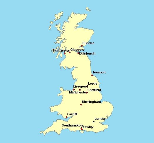 Carte Angleterre Grandes Villes.Carte De L Angleterre Avec Les Villes Imvt