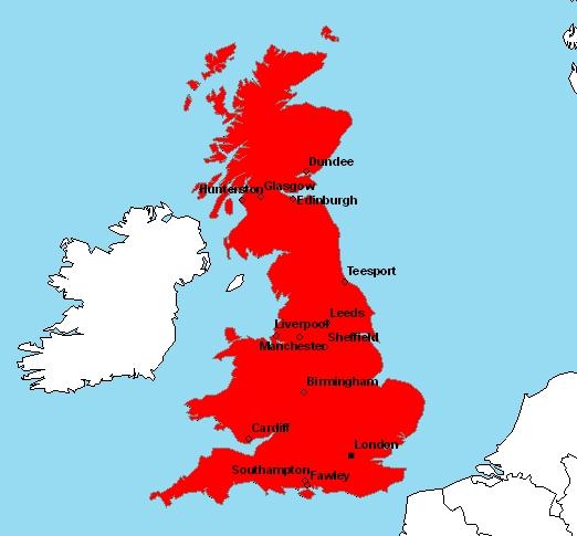 Carte Angleterre Grandes Villes.Cartes De L Angleterre