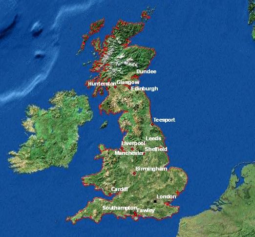 Carte De Langleterre Ville.Cartes De L Angleterre
