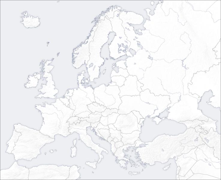 Carte Europe Png.Cartes De L Europe Vierges