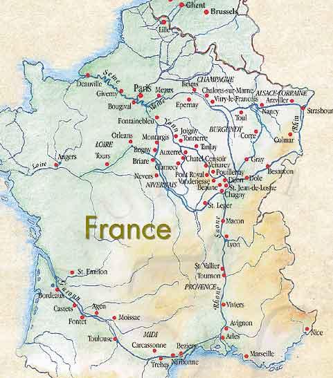 Carte France Villes Fleuves Carte de France Fleuves