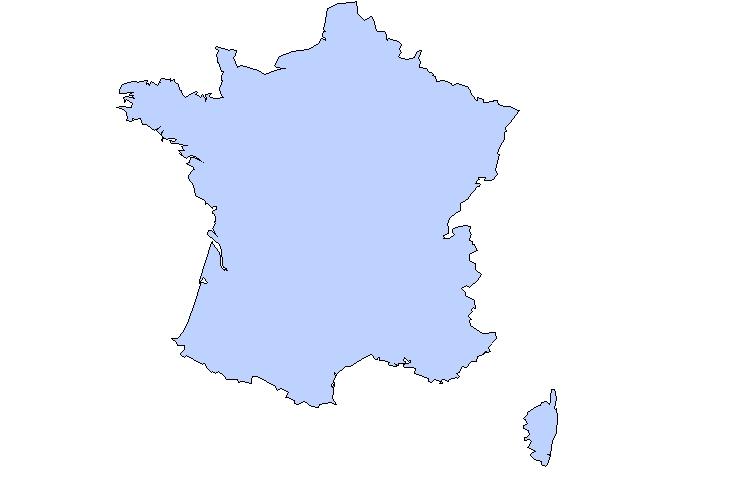 carte de france sans les villes