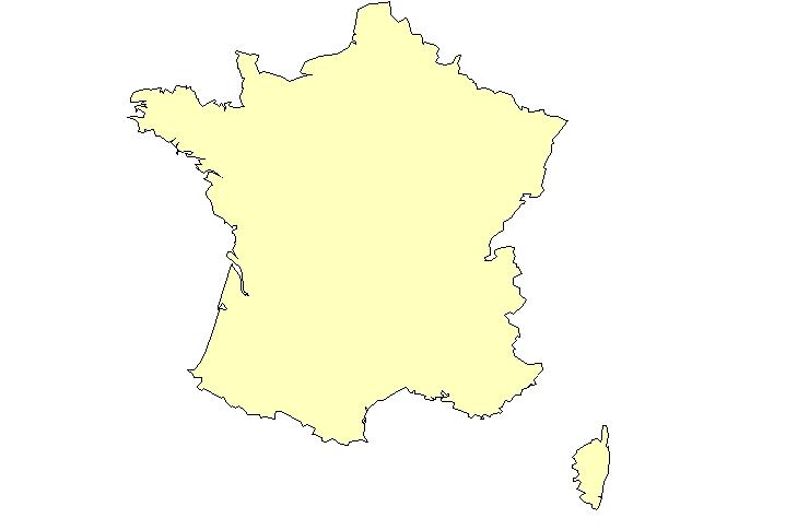 Carte de France Design Gallery Carte de France Vierge