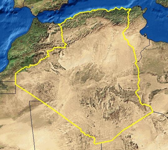 Carte Geographique De Lalgerie.Cartes De L Algerie