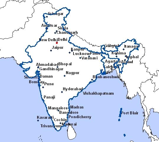 Carte Inde Vierge.Cartes De L Inde