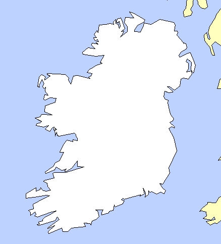 Carte Irlande Simple.Cartes De L Irlande