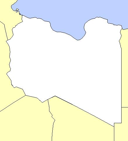 خريطة ليبيا صماء الجغرافية السياحية و السياسية مفصلة بالتفصيل كاملة LBY01.jpg