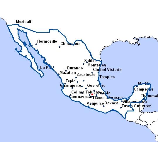cartes du mexique