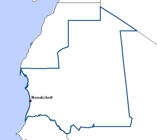 cartes de mauritanie