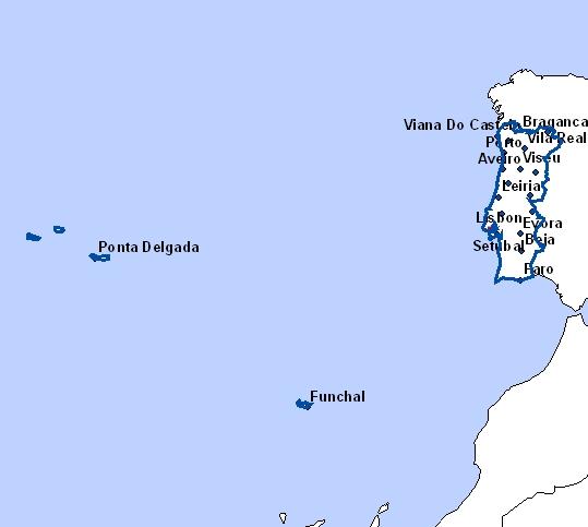 cartes du portugal