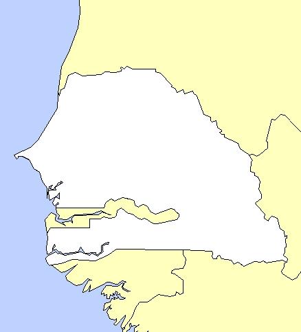 Carte Senegal Vierge.Cartes Du Senegal