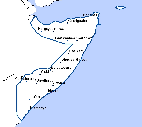 cartes de somalie