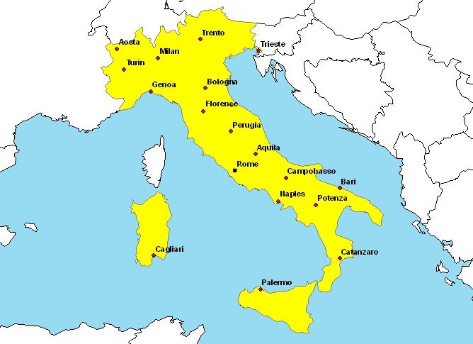 carte-italie-images-et-photos