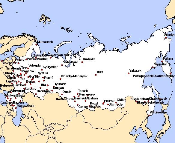 carte russie avec villes carte de russie avec les villes Archives   Voyages   Cartes